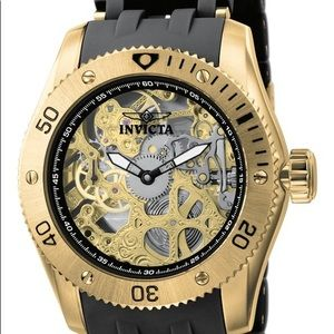 INVICTA SEA SPIDER MENS WATCH 18K GOLD PLATED